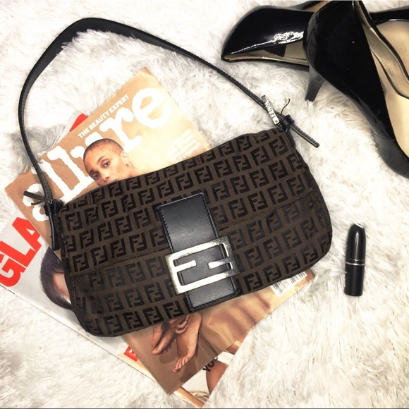 e233a96bb05f Fendi Handbags - Fendi Zucchino Canvas Baguette.